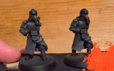 Painting Krieg Grenadiers. Part 2: Base colours