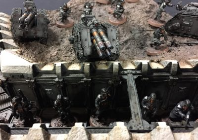 Armies on Parade: Closeup of infantry in trench section