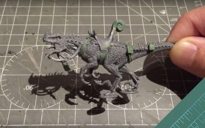 Building Seraphon Cold One. Part 1: The Mount