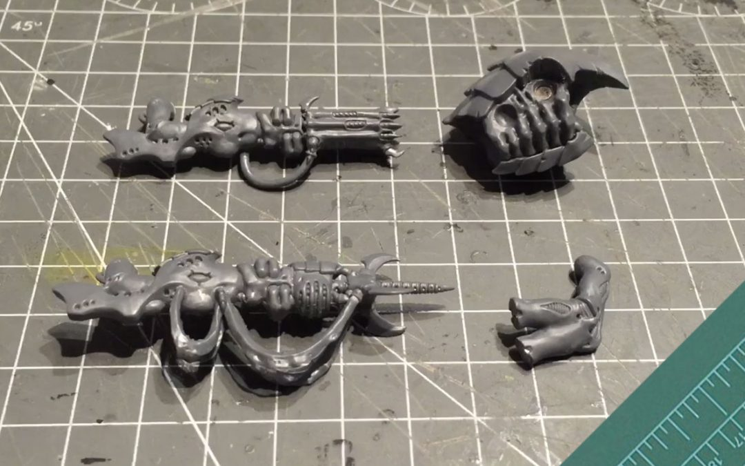 Tyranid Hive Guard: Magnetising the gun arms