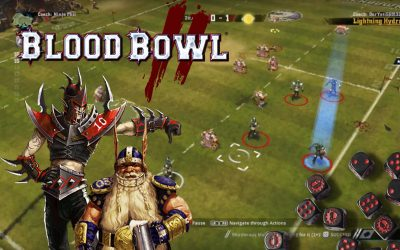 Blood Bowl 2. Dwarves vs Dark Elves Match Highlight