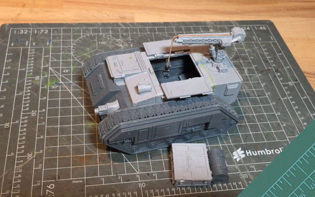 Building a Trojan Support Vehicle: Adding the crane detail