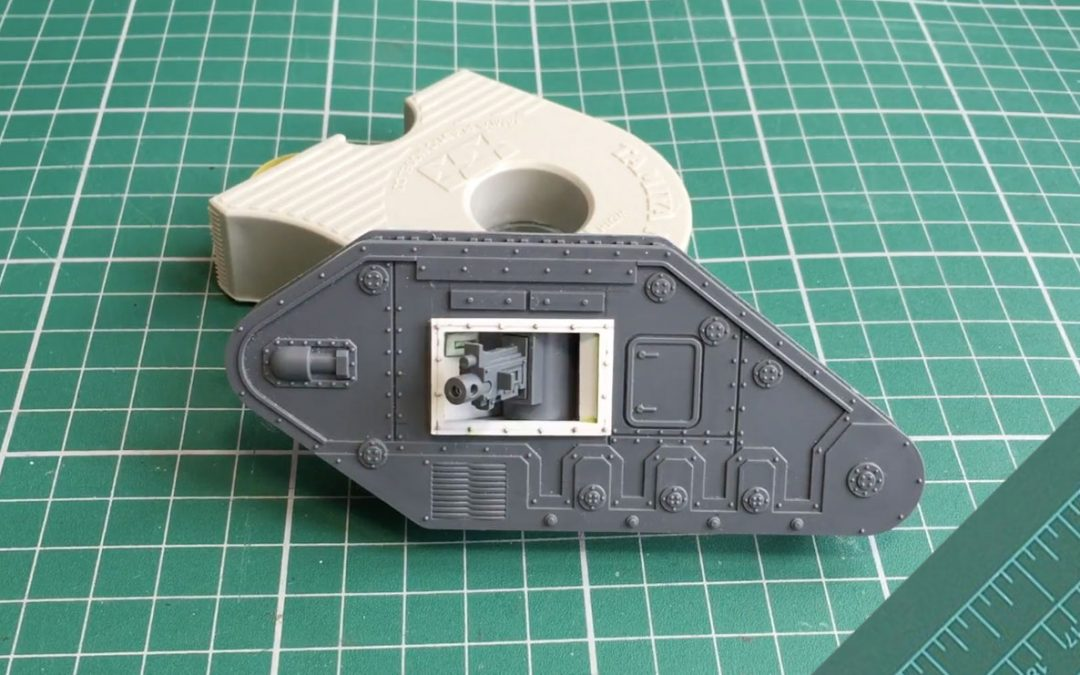 Converting a Leman Russ: Adding internal sponsons