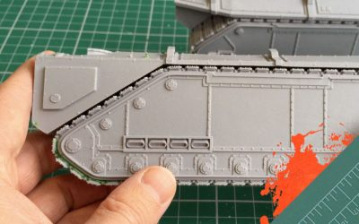 Build & Paint a Gorgon Transport. Part 1: The Track Unit