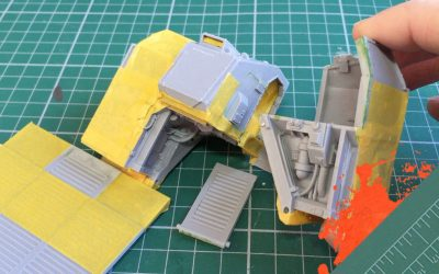 Build & Paint a Gorgon Transport. Part 5: Masking the rear section