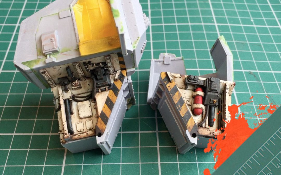 Build & Paint a Gorgon Transport. Part 6: Painting the interior corridor