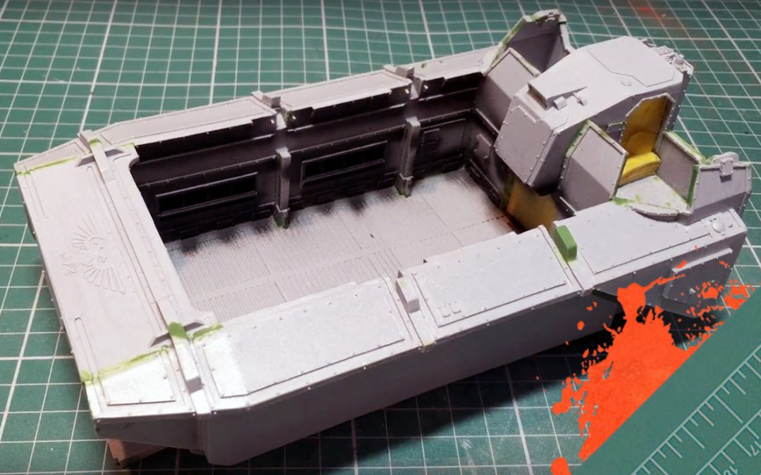 Build & Paint a Gorgon Transport. Part 7: Assembling the hull