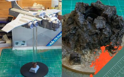 Build & Paint a Marauder Bomber. Part 5: Making a Custom Flight Stand and Base