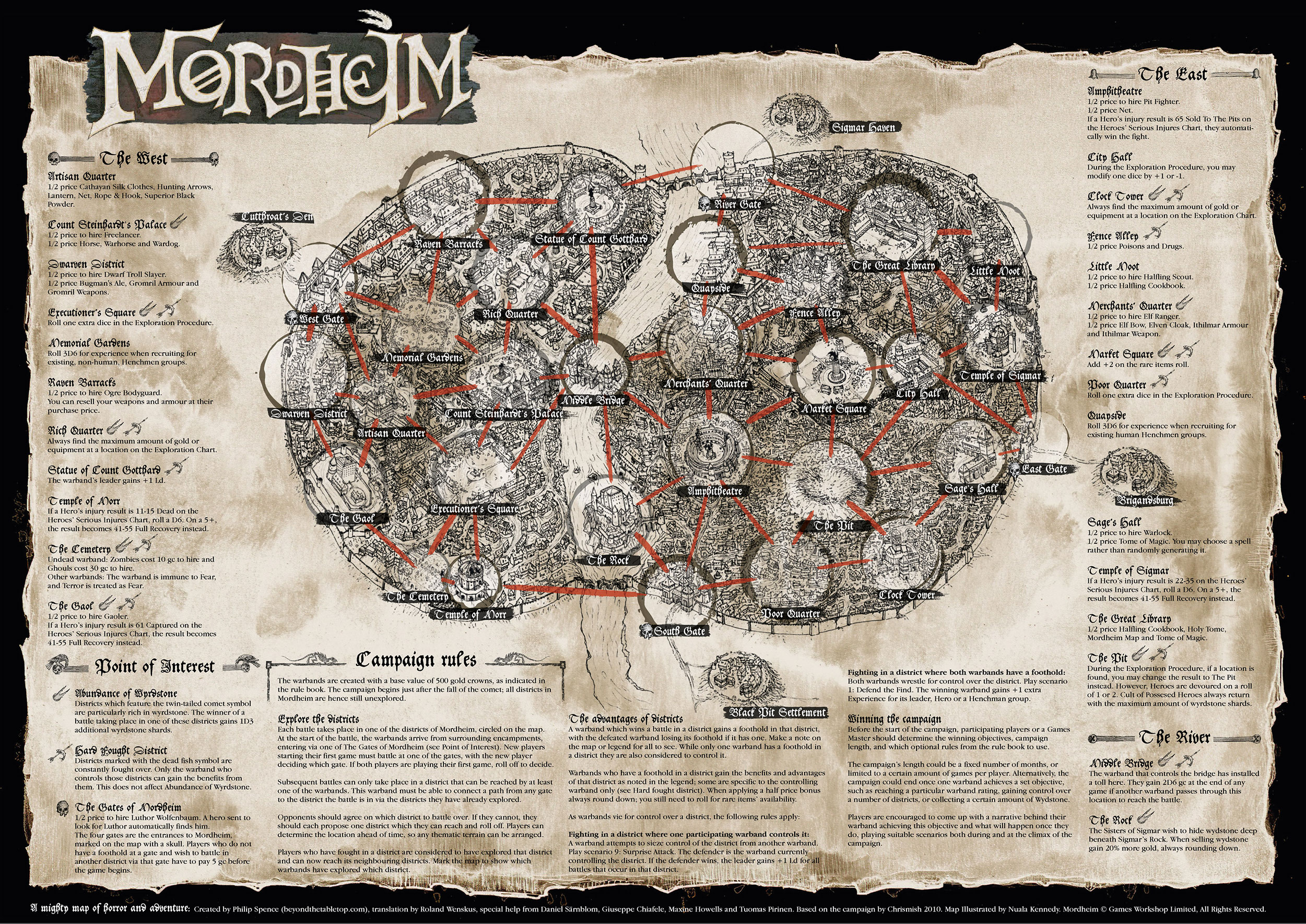The Mordheim Campaign Map - Small