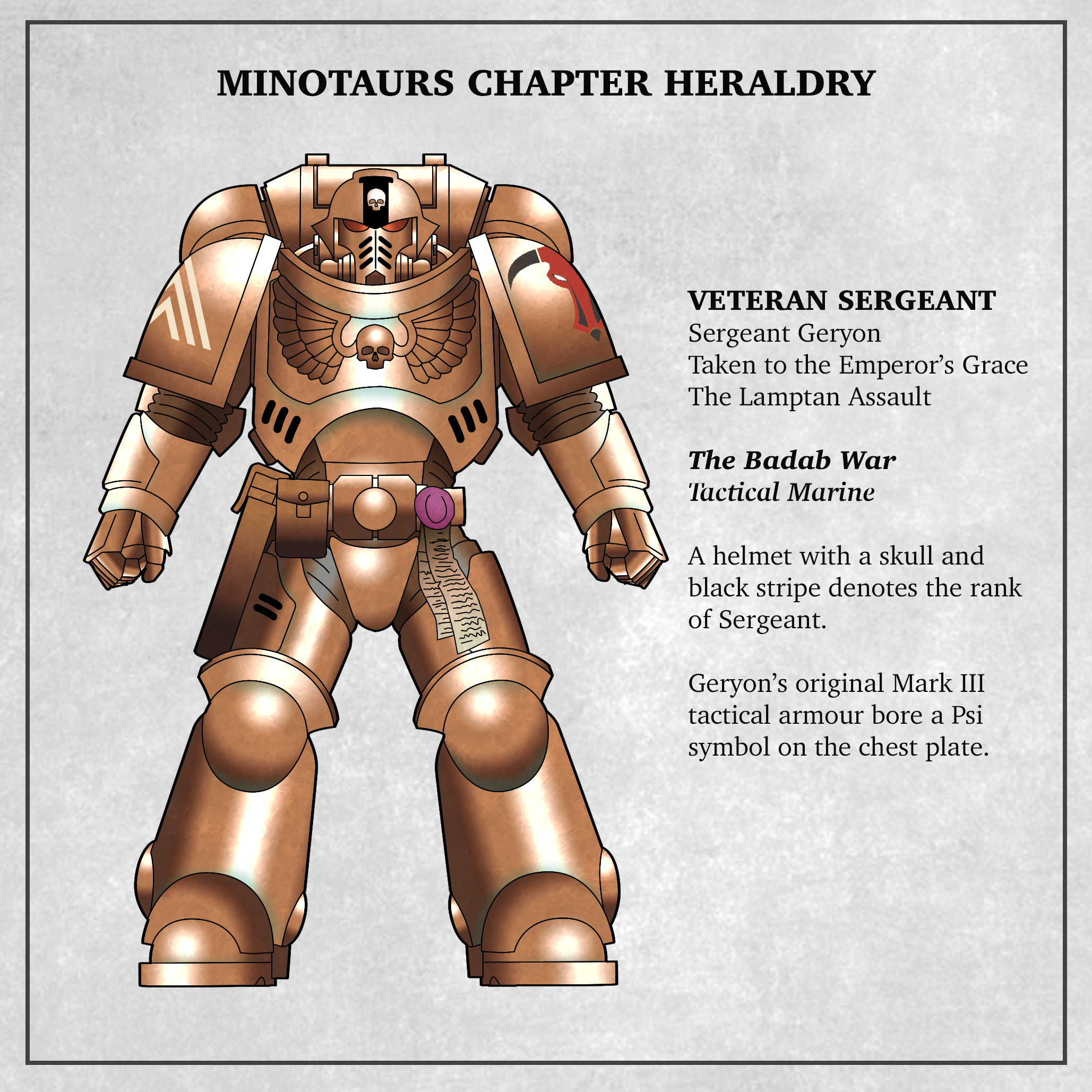 Minotaurs Veteran sergeant Badab War