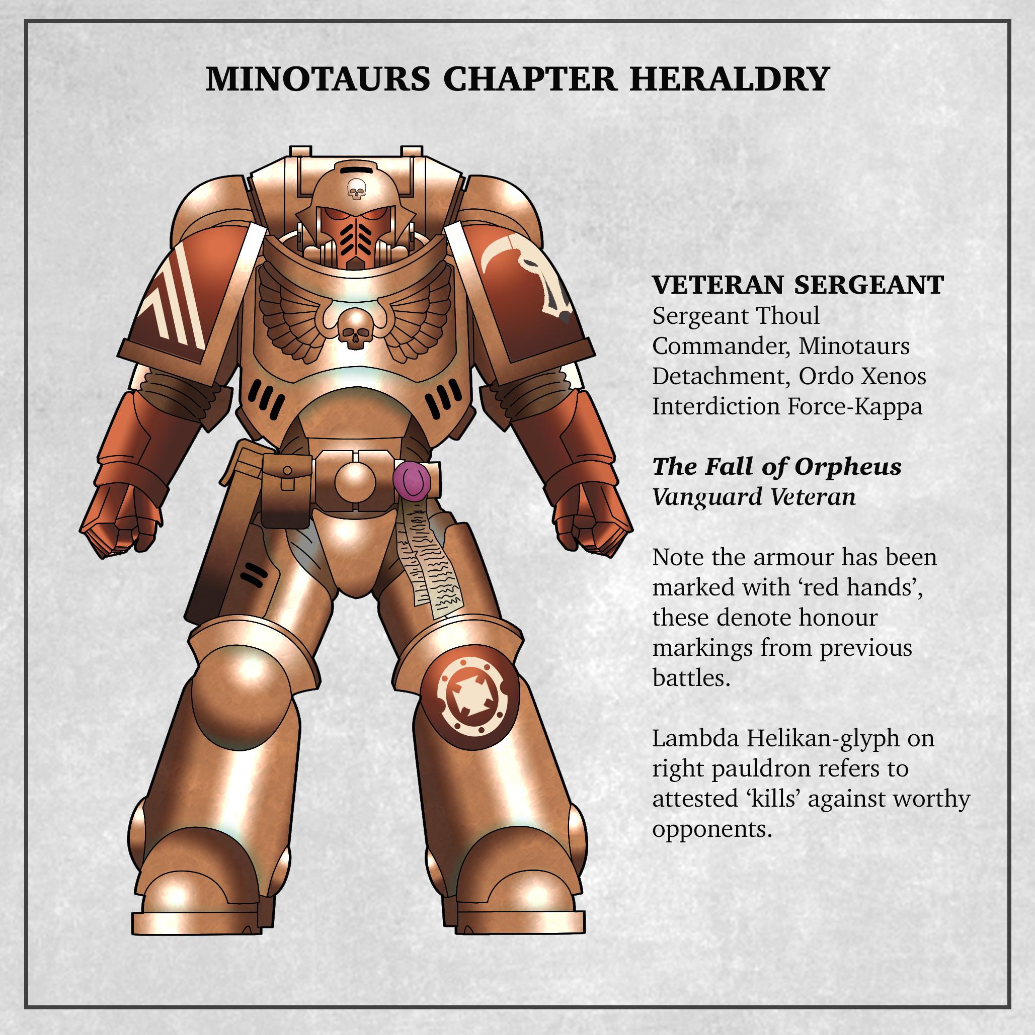 Minotaurs Veteran Sergeant Fall of Orpheus